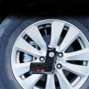 Compresseur d'air Gonfleur de pneus 12V Pompe à air de voiture avec manomètre Pompe à air électrique de poche avec flash Marteau de sécurité pour moto auto voiture vélo