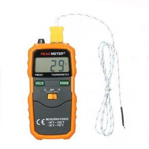 PEAKMETER PM6501 Thermomètre à thermomètre numérique avec thermocouple, type K, affichage à cristaux liquides