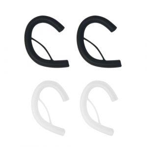 2 Paires 4 PCS Doux Nouilles en Silicone Câble Écouteur Boucle d'Oreille Clip Oreille Ronde Fil Crochet Cintre Remplacement D'oreille