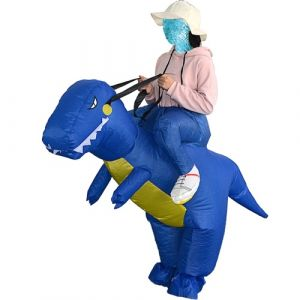 Costume gonflable adulte mignon de costume de dinosaure de costume de Decdeal Costume gonflable d'animal