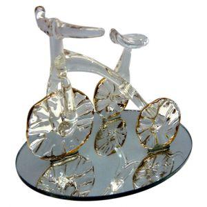 Sujet tricycle en verre
