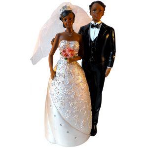 Sujet Couple de mariés métisses