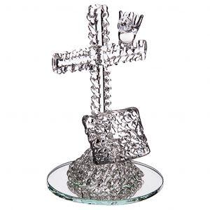 Communion Croix et livre sur miroir