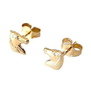 Boucles d'oreilles cheval or 375/1000° (9 carats)