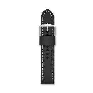 Fossil Men Bracelet De Montre Interchangeable En Cuir Noir 22 Mm - One size