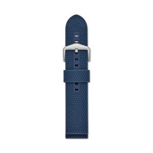 Fossil Men Bracelet De Montre Interchangeable En Silicone Bleu 22 Mm - One size