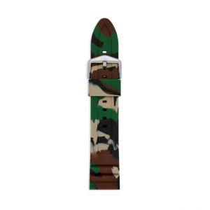 Fossil Men Bracelet De Montre Interchangeable En Silicone Vert Forêt Camouflage 22 Mm - One size