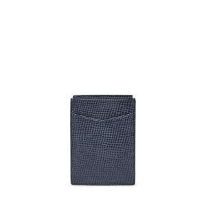 Fossil Unisex Porte-Monnaie Avec Poche Avant Et Fermeture Magnétique Rfid Walton Bleu - One size