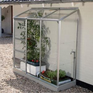 Serre adossée IDA en verre trempé 1.34 m² - Lams