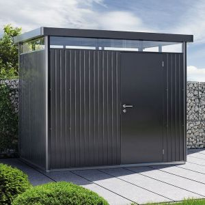 Abri de jardin métal 7,56 m² Ep. 0,53 mm HighLine Biohort gris foncé