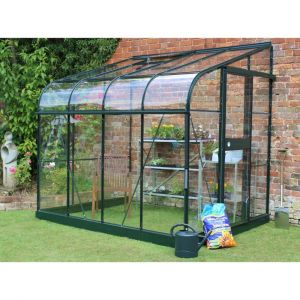 Serre de jardin adossée Silverline 5 m² verre trempé - Halls