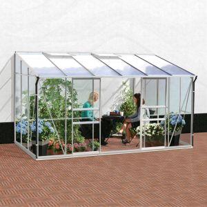 Serre adossée IDA en verre trempé 7.80 m² - Lams