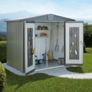 Abri de jardin métal 5,56 m² Ep. 0,53 mm Europa 4 Biohort gris