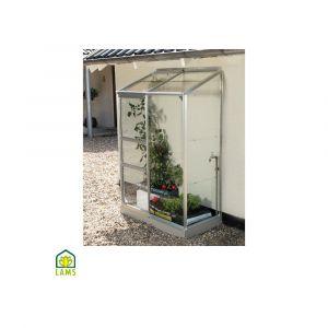 Serre adossée IDA en verre trempé 0.90 m² - Lams