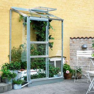 Serre adossée en verre horticole Altan 0.90 m² + embase - Halls