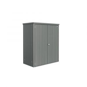 Armoire de jardin métal L155 H182,5 cm Biohort gris