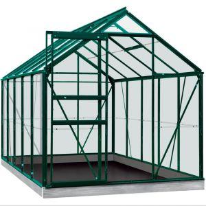 Serre en verre trempé Lily vert 6.20 m² + Embase - Introgrow