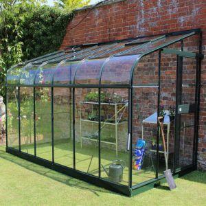 Serre adossée en verre trempé Silverline vert 7.5 m² - Halls