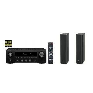Amplificateur Denon DRA-800H Black + Enceinte colonne Focal Chorus 726 Black Style vendue par paire