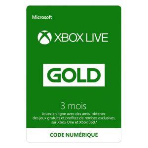 Code de téléchargement Xbox Live Gold :  3 mois d' abonnement