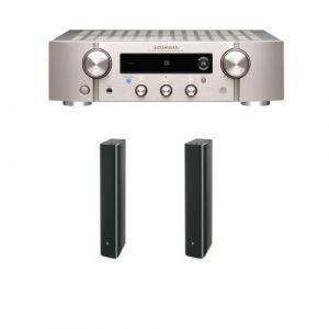 Amplificateur Hi-Fi Marantz PM7000N Argent + Enceinte colonne Focal Chorus 726 Black Style Vendue par paire