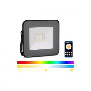 Smart projecteur LED RGB à intensité variable LED/20W/230V IP65 noir