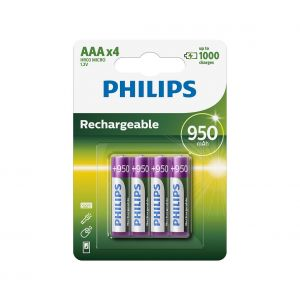 Philips R03B4A95/10 - 4 pc Pile rechargeable AAA MULTILIFE NiMH/1,2V/950 mAh