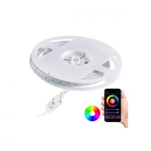 Ruban dimmable LED RGB d'extérieur Wi-fi LED/8W IP65 2 m Tuya