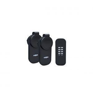 Solight DY12 - SET 2x Prise extérieure + télécommande IP44
