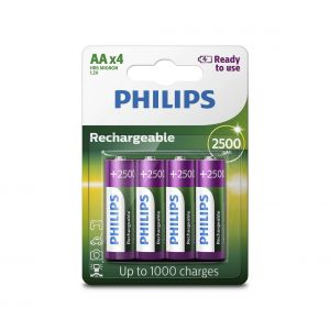 Philips R6B4RTU25/10 - 4 pc Pile rechargeable AA MULTILIFE NiMH/1,2V/2500 mAh