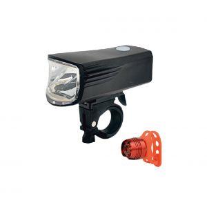 PACK 2x Lampe de vélo LED rechargeable LED/5W/USB IP44