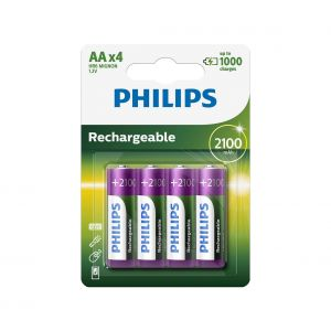 Philips R6B4A210/10 - 4 pc Pile rechargeable AA MULTILIFE NiMH/1,2V/2100 mAh