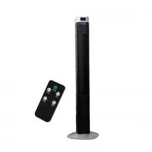 Ventilateur colonne avec indicateur de température et télécommande 55W/230V