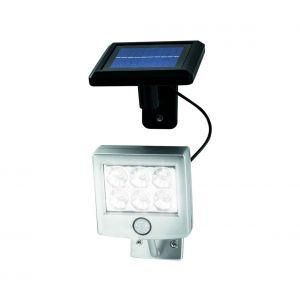 Luminaire solaire LED avec détecteur de mouvement et détecteur crépusculaire LED/3xAA IP44