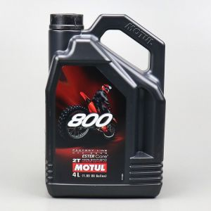 Huile moteur 2T Motul 800 Factory Line Off Road 100 % synthetic Ester Core 4L