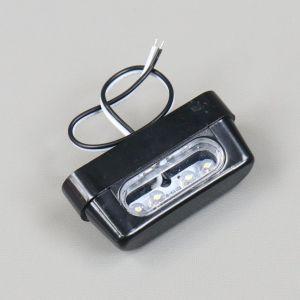 Éclairage feu de plaque d'immatriculation plastique noir à leds