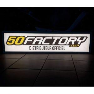 Enseigne lumineuse à leds magasin 50 Factory Distributeur Officiel