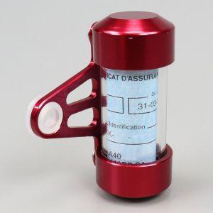 Porte vignette d'assurance tube rouge
