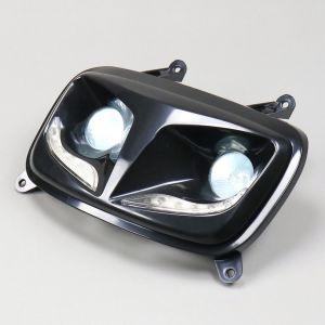 Phare double optique noir avec leds MBK Booster, Yamaha Bw's (depuis 2004) TNT