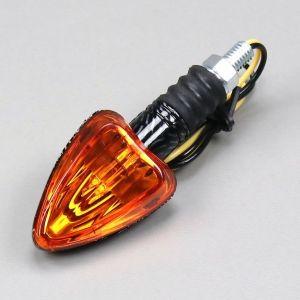 Clignotant à ampoule Arrow carbone cabochon orange réversible (à l'unité)