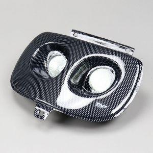 Phare double optique carbone MBK Booster, Yamaha Bw's (avant 2004) TNT