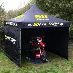 Tente paddock 50 Factory 3x3m (avec cloisons et housse)