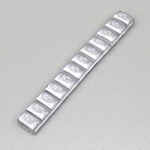 Masses d'équilibrage de roues adhésives grises (12x5g)