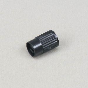 Bouchon de valve universel noir avec démonte obus intégré (à l'unité)