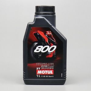 Huile moteur 2T Motul 800 Factory Line  Road Racing 100 % synthetic Ester Core 1L