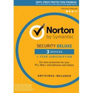Norton Security Deluxe - 3 Device - 1 Year - Norton Key EUROPE
