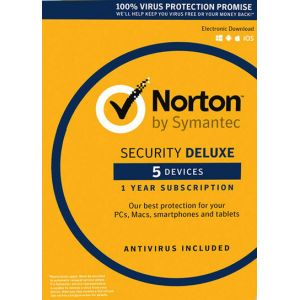 Norton Security Deluxe - 5 Device - 1 Year - Norton Key EUROPE