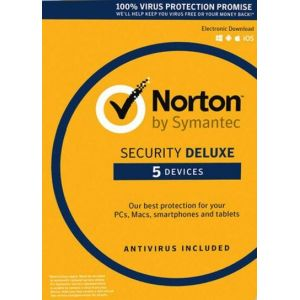 Norton Security Deluxe - 5 Devices - 3 Years - Norton Key EUROPE
