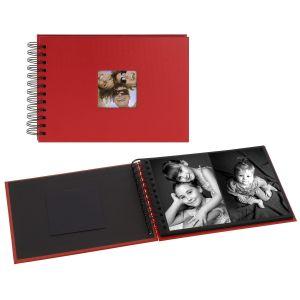 Album photo WALTHER DESIGN traditionnel FUN - 20 pages noires - 40 photos - Couverture Rouge 17x23cm