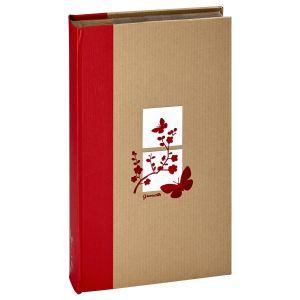 Album photo PANODIA pochettes avec mémo GREENEARTH - 100 pages kraft - 300 photos - Couverture Rouge 22,5x36,8cm